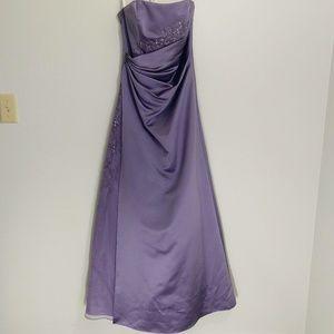 Dark lavender David's Bridal formal